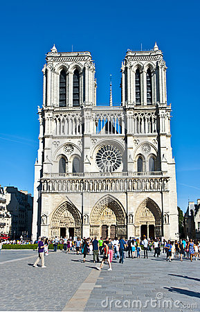 Notre-Dame  de Paris. Editorial Stock Photo