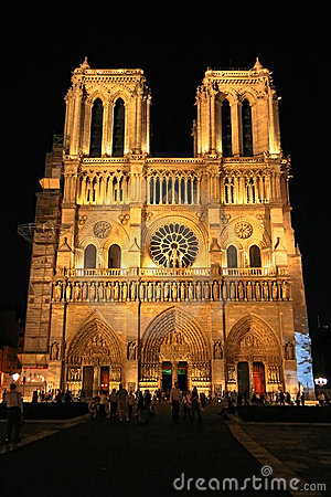 Notre Dame de Paris Cathedral Editorial Stock Photo