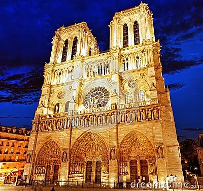 Free Notre Dame De Paris Cathedral.Paris. France. Royalty Free Stock Images - 36188829