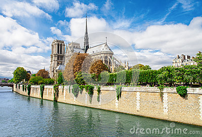 Notre Dame de Paris, France famous landmark