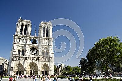 Notre Dame de Paris, Paris, France Editorial Image