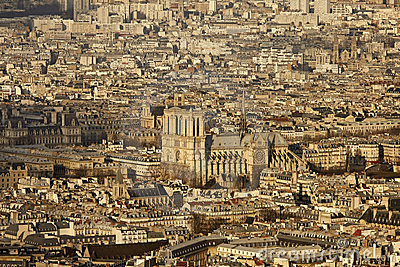 Notre Dame de Paris, from Montparnasse tower