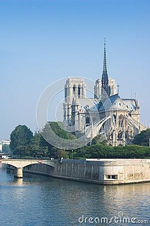 Notre-Dame de Paris in the morning