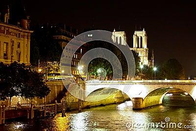 Notre Dame de Paris over the Seine River