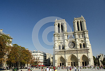 Notre Dame de Paris, Paris, France Editorial Photo