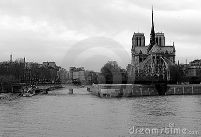 Notre Dame de Paris and the Seine River, France