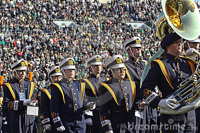 Notre Dame Marching Band Editorial Photography