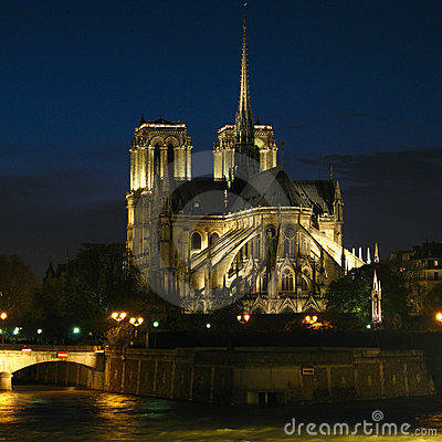 Notre-Dame at night 02, Paris, France