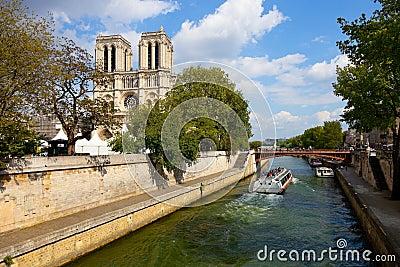 Notre Dame in Paris Editorial Image