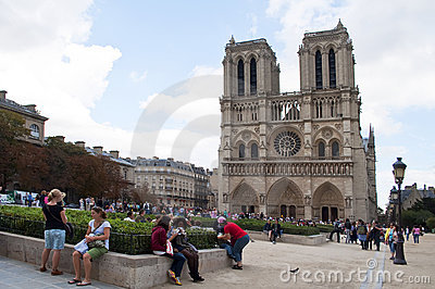 Notre Dame, Paris Editorial Stock Image