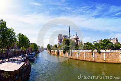 Notre Dame in Paris Editorial Stock Photo