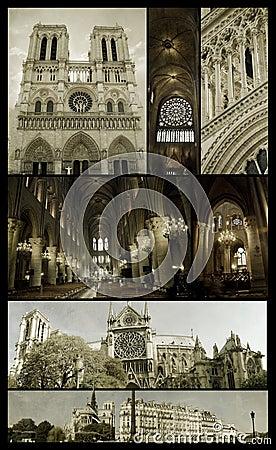Notre-Dame of Paris on grunge