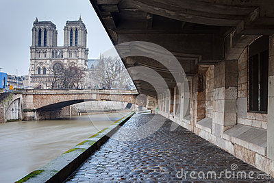 Notre-Dame from Paris with Sena
