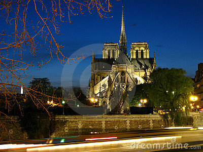 Notre-Dame at twilight