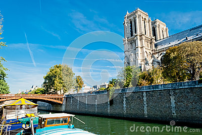 Notre Dame, view from Seine river