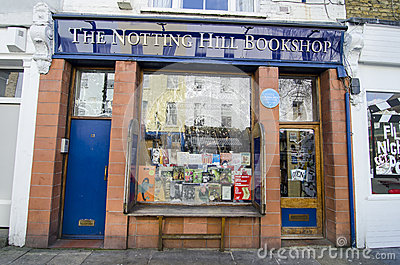 Notting hill bookshop Editorial Photography