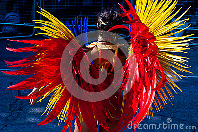 Notting Hill Carnival costume Editorial Stock Photo