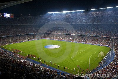 Nou Camp Stadium, Barcelona, Spain Editorial Photo