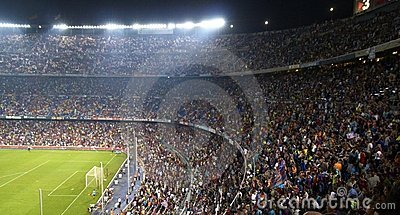 Nou Camp Stadium, Barcelona, Spain Editorial Stock Photo