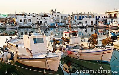 Noussa town marina