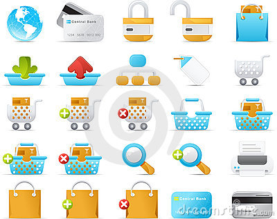Nouve icon set: Internet and e-Commerce