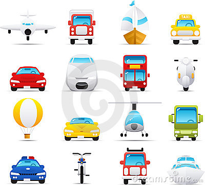 Free Nouve Icon Set: Transportations Royalty Free Stock Image - 8617966