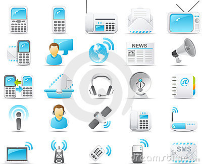 Nouve icon set: Wireless and communication