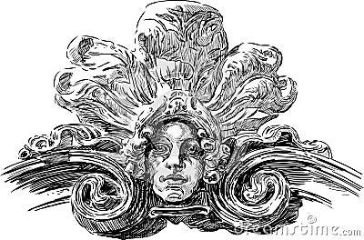 艺术Nouveau面具