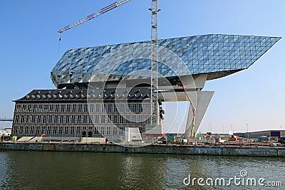Nouveaux bureaux de port dans le port d 39 anvers en belgique photo ditorial image 68473801 - Port d anvers belgique adresse ...