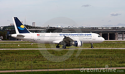 Nouvelair Tunisie   Airbus A320 Editorial Photo