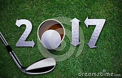 Nouvelle année heureuse de golf