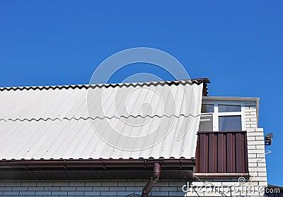 tuile de toit en plastique de fibre photo stock image 42455495 - Lucarne Moderne Et Toit Tuile