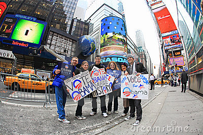 Nov 4, 2008 - The Times Square in NYC Editorial Image