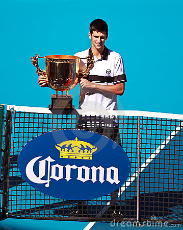Novak Djokovic at the 2010 China Open Editorial Image