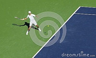 Novak Djokovic at Indian Wells 2013 Editorial Image