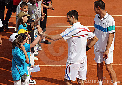 Novak Djokovic (SRB) at Roland Garros 2011 Editorial Photo
