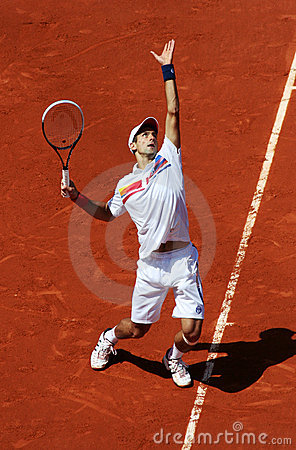 Novak Djokovic (SRB) at Roland Garros 2011 Editorial Stock Photo