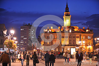 Novi Sad, City Hall Editorial Stock Photo