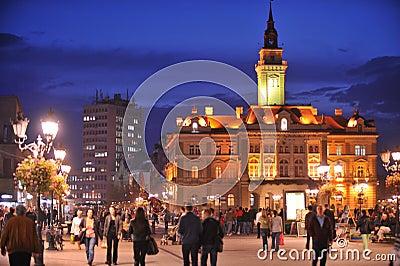 Novi Sad, City Hall Editorial Stock Photo