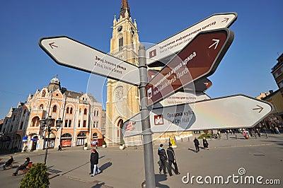 Novi Sad - Liberty Square Editorial Photography
