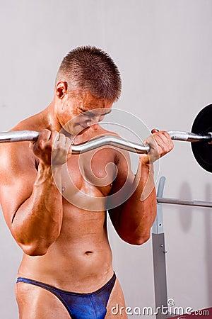 Novice bodybuilder training