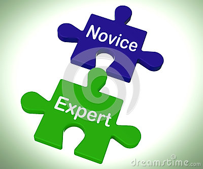 Novice Expert Puzzle Shows Unskilled And Professional