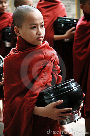 Novice monk in Amarapura Editorial Photography