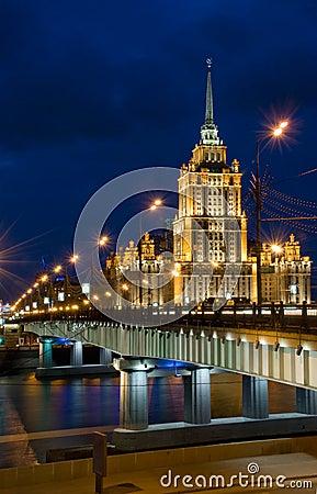 Free Novoarbatskiy Bridge & Hotel Ukraine Stock Image - 11725371
