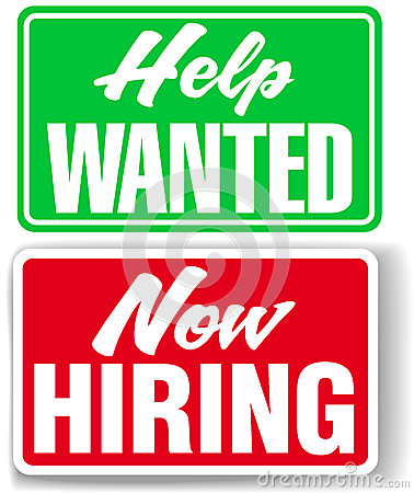 Now Hiring Help Wanted business signs