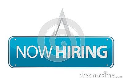 Now hiring sign illustration