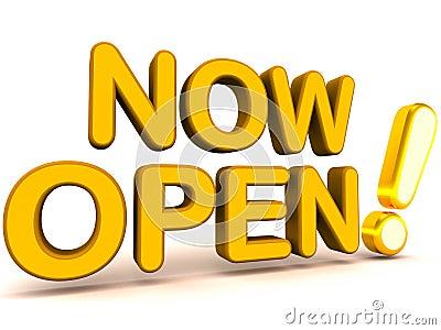 Now Open Stock Photos - Image: 107933