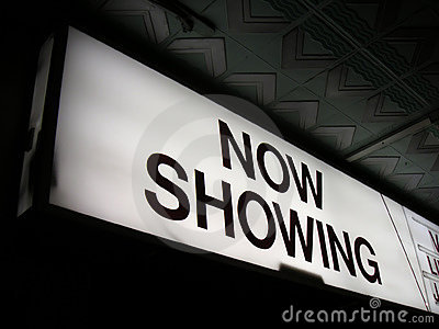 Now showing cinema sign 2
