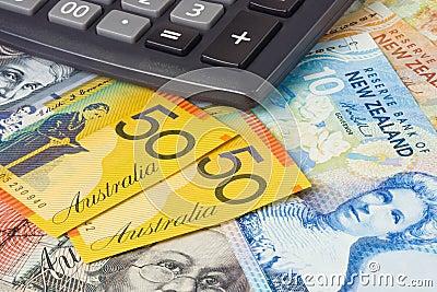 Nowe Zelandii australii waluty