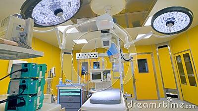 Nowożytna szpitalna izba pogotowia z żółtymi ścianami zdjęcie wideo